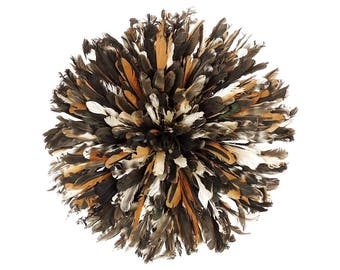 Headdress Juju Feather Bamileke Cameroon 21 Inch Africa Brown 119052