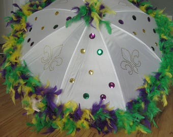 Mardi Gras Umbrella Bling New Orleans Second Line Large, Stage Production, Costume Design, Play Prop, TV Production, Dance Recital Revue