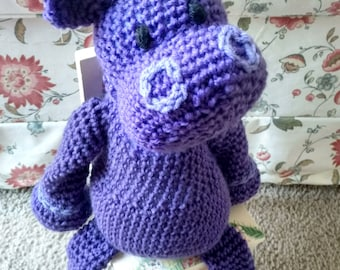WeeKinder Crocheted Stuffed Animal - Hippo