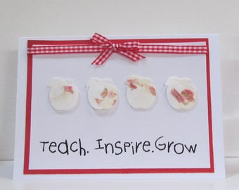 Teacher Thank You Card with Plantable Seed Paper