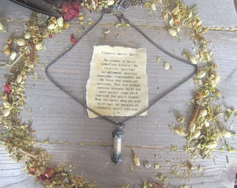 Elemental Amulet - SPIRIT - witchcraft jewelry, wiccan elements wicca pagan occult magick witchy gothic spells magickgift