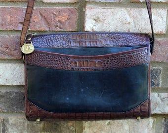 Vintage BRAHMIN Messenger / Crossbody Bag