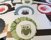 Reserved for Megan - 10 Owl cards