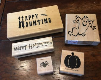 5 Halloween stamps - used