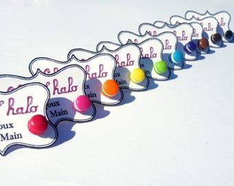 Earrings mini macaroons
