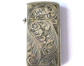 Vintage Zippo Lighter with Sterling Silver Case