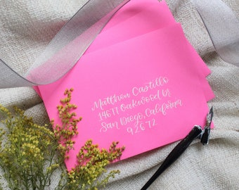 Custom Calligraphy/Envelope Addressing for weddings, parties, etc