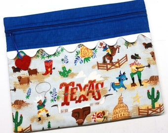 Texas Cross Stitch Embroidery Project Bag