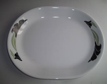 Black Orchid Serving Platter, Made in the USA