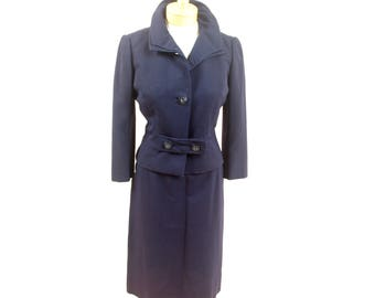 1940s Navy Blue Suit * 40s Suit * Womens Vintage Suit * Rayon Suit * 1940s Jacket * Navy Blue Blazer