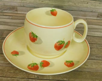 Cavitt Shaw Division W S George  Shortcake 1930s Coffee Tea Cup & Saucer Plate Pattern 172A