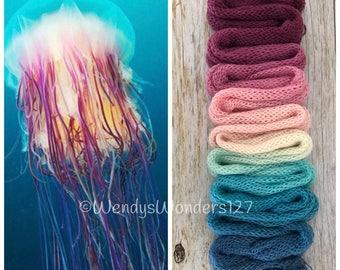 Hand Dyed Yarn, Gradient Yarn, Fingering Weight Yarn, Jelly Magic