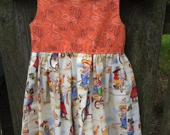 Girls 5 Roundup scoop back dress