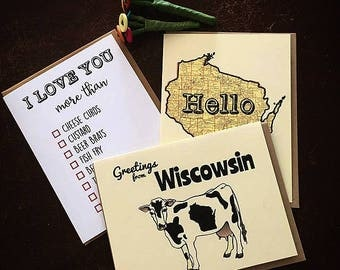 I love you more than - Wisconsin Greeting Card