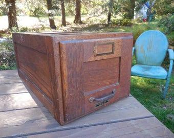 Vintage/Antique 1900s Oak Wooden File Cabinet Large Single Drawer Filing  Systems U0026 Cabinet Company