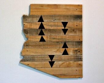 ARIZONA State Wood Wall Decor   Pallet Wood   Gallery Wall   Southwestern Style Decor   Medium Size