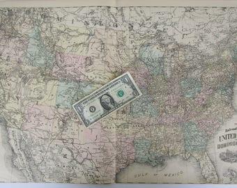 Antique Us Map Etsy - Huge us map