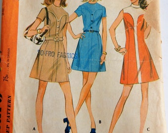 McCalls 2357 1970 Misses Dress in Three Versions cut complete Size 16
