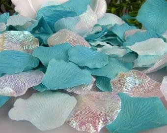 500 Rose Petals Artificial - Tropical Beach Wedding Ceremony - Mermaid Party - Flower Basket Petals - Tossing Petals - Spa Colors
