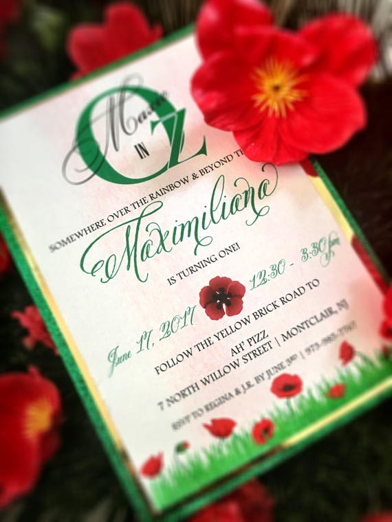 Wizard of Oz Inspired Invitation