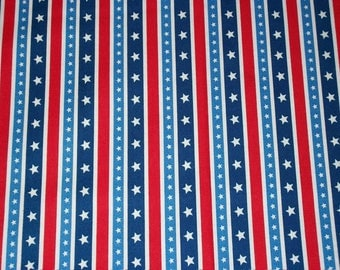 Patriotic Americana Fabric, Star Fabric, By The Yard, 4th of July, Northcott Fabrics, Red White Fabric, Crafting Sewing Fabric, Flag Fabric