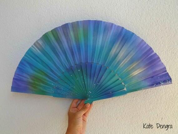 Moorlands Iridescent Scale Glitter Sequin Shimmer 32cm Hand Fan