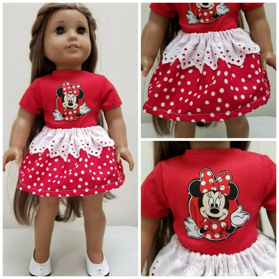 Minnie T Shirt and Skirt for American Girl