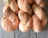 4 skeins of What a Peach on 80/20 fingering weight