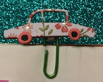 Flower Car planner clip will fit most planners