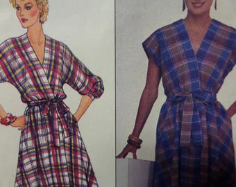 FRONT WRAP DRESS Pattern • Butterick 4392 • Miss 12-16 • Wrapped Dress • Dolman Sleeve • Sewing Pattern • Vintage Patterns • WhiletheCatNaps