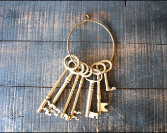 Brass Skeleton Keys // Individual