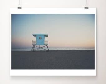 Santa Cruz photograph lifeguard photo sunset photograph california photograph Santa Cruz print California print lifeguard tower