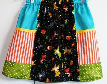 Wizard scrappy big pockets  skirt   (2T, 3T, 4T, 5T, 6, 7, 8, 10)