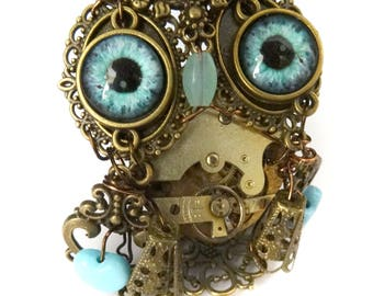 Hector, steampunk baby owl( hibou)