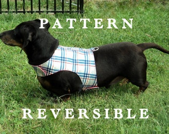 Dog harness DIY sewing pattern leash instructions too Free Shipping