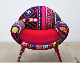Smiley Armchair - fuchsia dream
