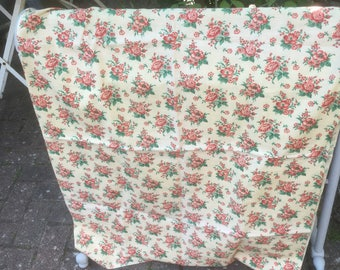 French vintage floral cotton length