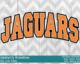Jaguars Arched SVG Files