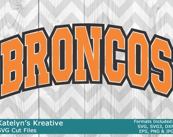 Broncos Arched SVG Files