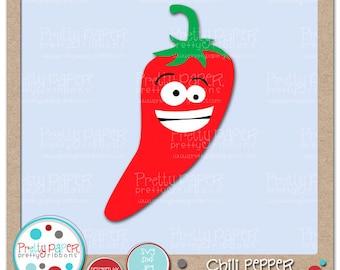 Chili Pepper Cutting Files & Clip Art - Instant Download