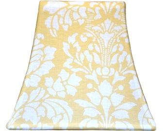 Yellow Stencil - SLIP COVERS for lampshades