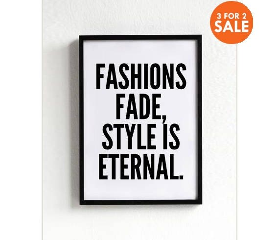 Fashion Print Style Wall Art Wall Decor Fashion Quote