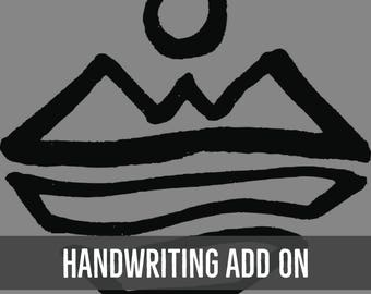 Add Custom Handwriting To Your Listing, Add On, Handwriting Jewelry, Handwriting Necklace, Handwriting Pendant, Your Handwriting, Signature