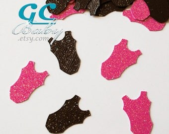 CUSTOM Gymnastics Table Confetti - Glitter bodysuits in any colors
