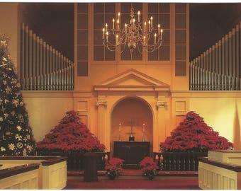 Riverside United Methodist Church Macon Georgia Christmas Service  Vintage Postcard Christmas Greeting Card