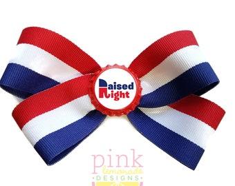 Raised Right- A GOP Republican Hair Bow