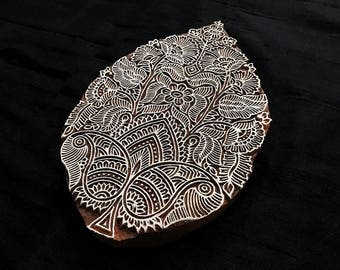 Intricate Design Indian block printing stamps/wooden block for printing/ paper and fabric printing stamp
