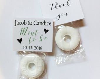 20 Mint to be wedding favors - guest party favors