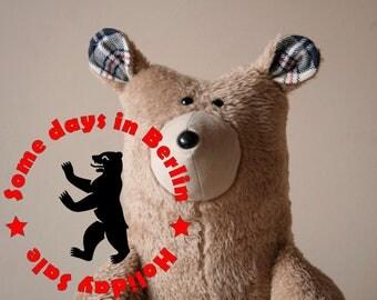 Sale! Big Honey Bear, Soft Brown Plush Big Bear, Teddy Bear, Cuddly Plush