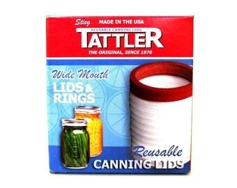 Tattler Reusable Canning Lids Wide Mouth 1 Dozen, Canning Supplies Jar Tops